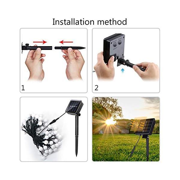 51uu61CYiwL LED Kugel Solar Lichterkette Aussen 11M,DeepDream 60LED USB Globe Lichterkette 8 Modus Wasserdicht, Innen und Außen für…