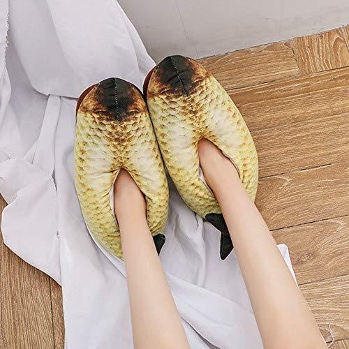Unica Wei Cotone Calde Di immagine Spesse Pesce Weiwei Pesce taglia Antiscivolo Creativo A Scarpe Pantofole Forma qtwddZ