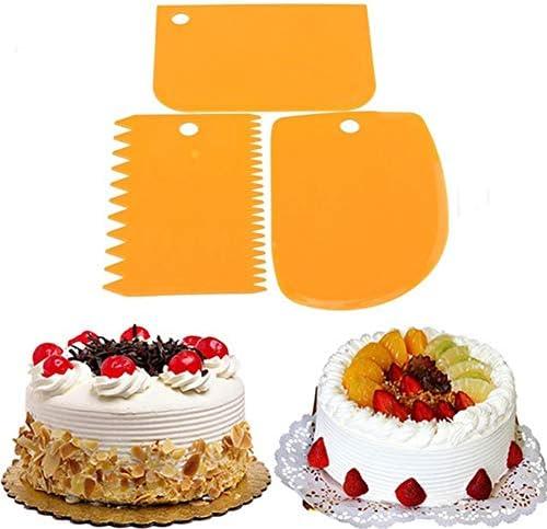 3Pcs Plastic Dough Icing Fondant Scraper Cake Decorating N Pastry Tools E S1H9