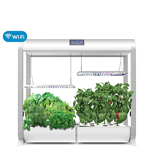 "Latest AeroGarden Farm Plus Hydroponic Garden, 24"" Grow Height, White Hydroponic System 11"