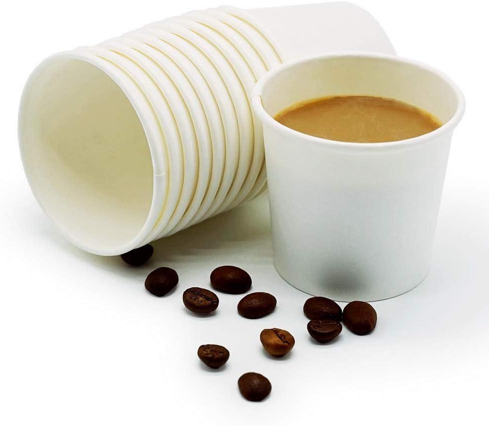 TashiBox Thick Espresso Cups Travel To Go, 4oz-200, White