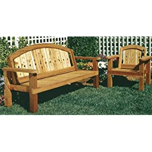 Arched Settee Bench & Chair - A Woodworking Pattern and Instructions Pkg to Build Your Own