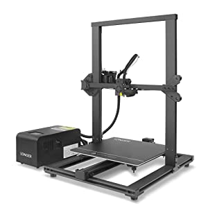 LONGER LK1 3D Printer with Large Build Size 300x300x400mm, Full Touch Screen, Filament Detector, Resume Printing, Full Metal Frame (Black)