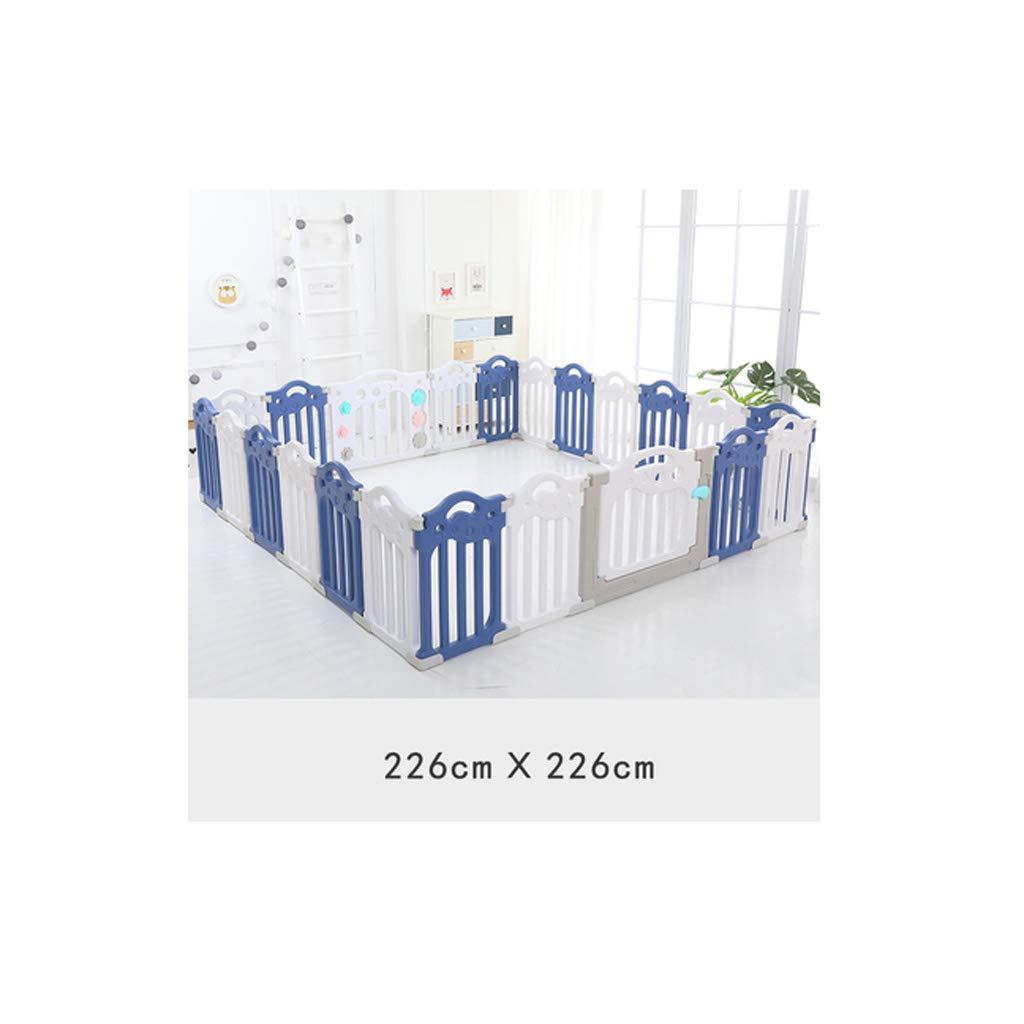 子供の遊びのフェンス屋内の家庭の赤ちゃん赤ちゃんの安全フェンスフェンスクロールマット幼児遊び場 QYSZYG (サイズ さいず : 226CM×226CM) 226CM×226CM  B07SBY6NTV