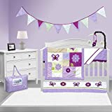 Pam Grace Creations 10 Piece Crib Bedding Set, Lavender Butterfly