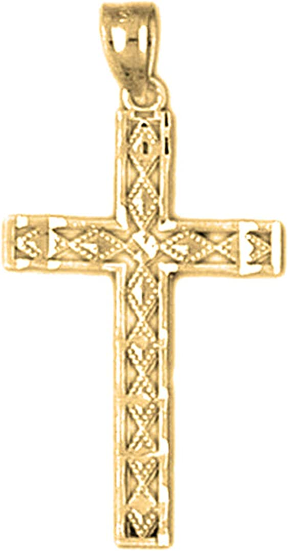 14K Yellow Gold-plated 925 Silver Latin Cross Pendant Jewels Obsession Silver Latin Cross Pendant