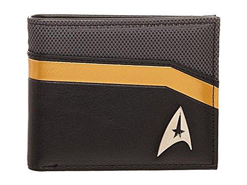 (Star Trek Metal Logo and Command Yellow Trim Bi-Fold Wallet)