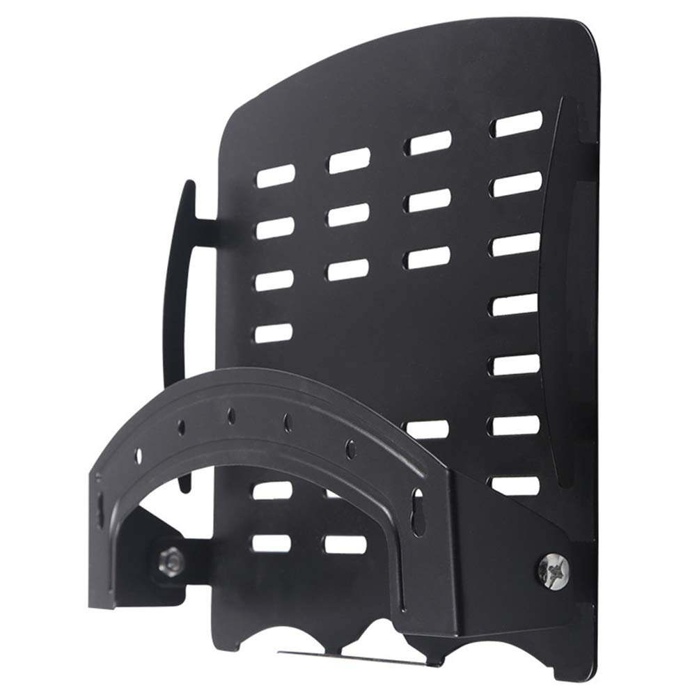 XDDan Router Storage Boxes Wall-Mounted Set-Top Box Shelf, Foldable Router Bracket Network Set Top Box Shelf,B by XDDan