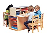 Childcraft 071978 Double-Sided Junior Writing Center, 40-3/4'' x 32'' x 36-1/4'', Natural Wood Tone