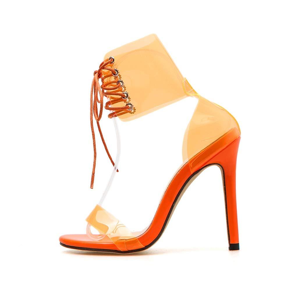 1b34aba9c99 Amazon.com: Cenglings Sexy PVC Open Toe Jelly Sandals Stiletto Heels ...