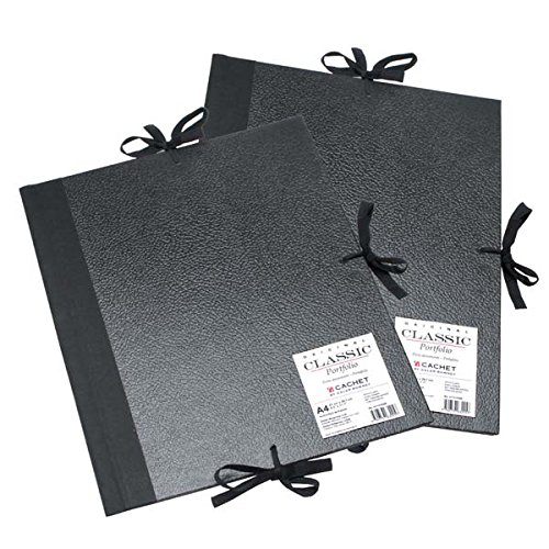 Daler-Rowney Cachet Classic Portfolio, Hard Cover with Cloth Ties, 17 x 22 inches, Black (471301722) by Daler Rowney