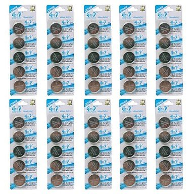 GOOP CR2450 3V Lithium Cell Button Batteries (50 PCS) convinent