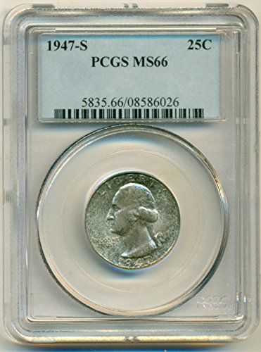 1947 S Washington Quarter MS66 PCGS