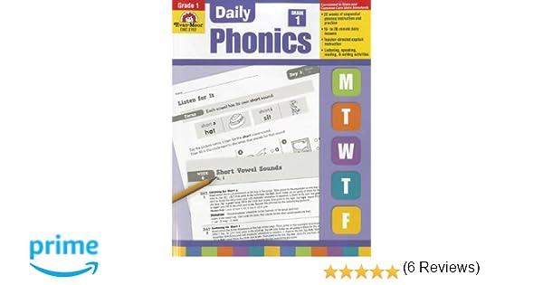Daily Phonics, Grade 1: Evan Moor: 9781609634414: Amazon.com: Books