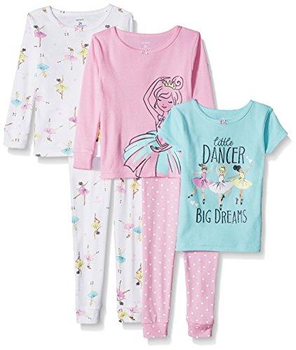 Carter's Toddler Girls' 5-Piece Cotton Snug-Fit Pajamas, Little Dancer, 5T
