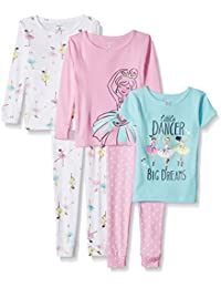 Girls Toddler 5-Piece Cotton Snug-Fit Pajamas