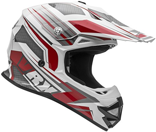 Vega Helmets VRX Advanced Dirt Bike Helmet – Off-Road Full Face Helmet for Motocross ATV MX Enduro Quad Sport, 5 Year Warranty (Red Venom Graphic, Large) (Fox Mx Womens Helmet)