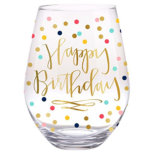 30 oz Happy Birthday Stemless Wine Glass