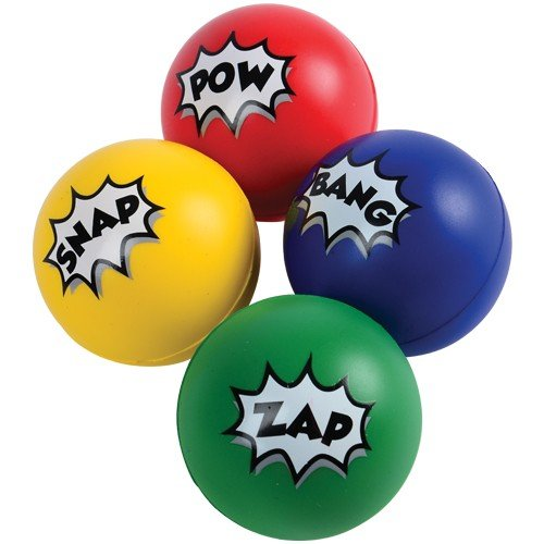 SUPERHERO STRESS BALLS, Sold By Case Pack Of 5 Dozens -