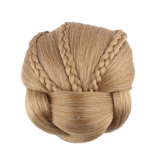 Price comparison product image Yosoo Braided Clip In Synthetic Hair Bun Chignon Donut Roller Hairpieces (1011)
