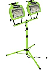 Designer's Edge L1322 Eco-Zone 48-LED Twin Head High Intensity Indoor/Outdoor Work Light with Telescoping Tripod, 5-Feet Cord