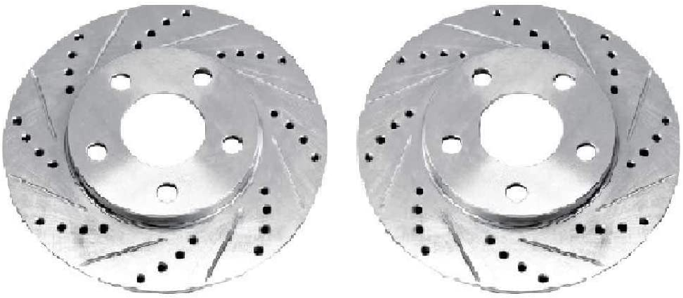12 305mm Performance Grade for Ford Explorer Mercury Mountaineer Front Drilled and Slotted Brake Rotors Detroit Axle