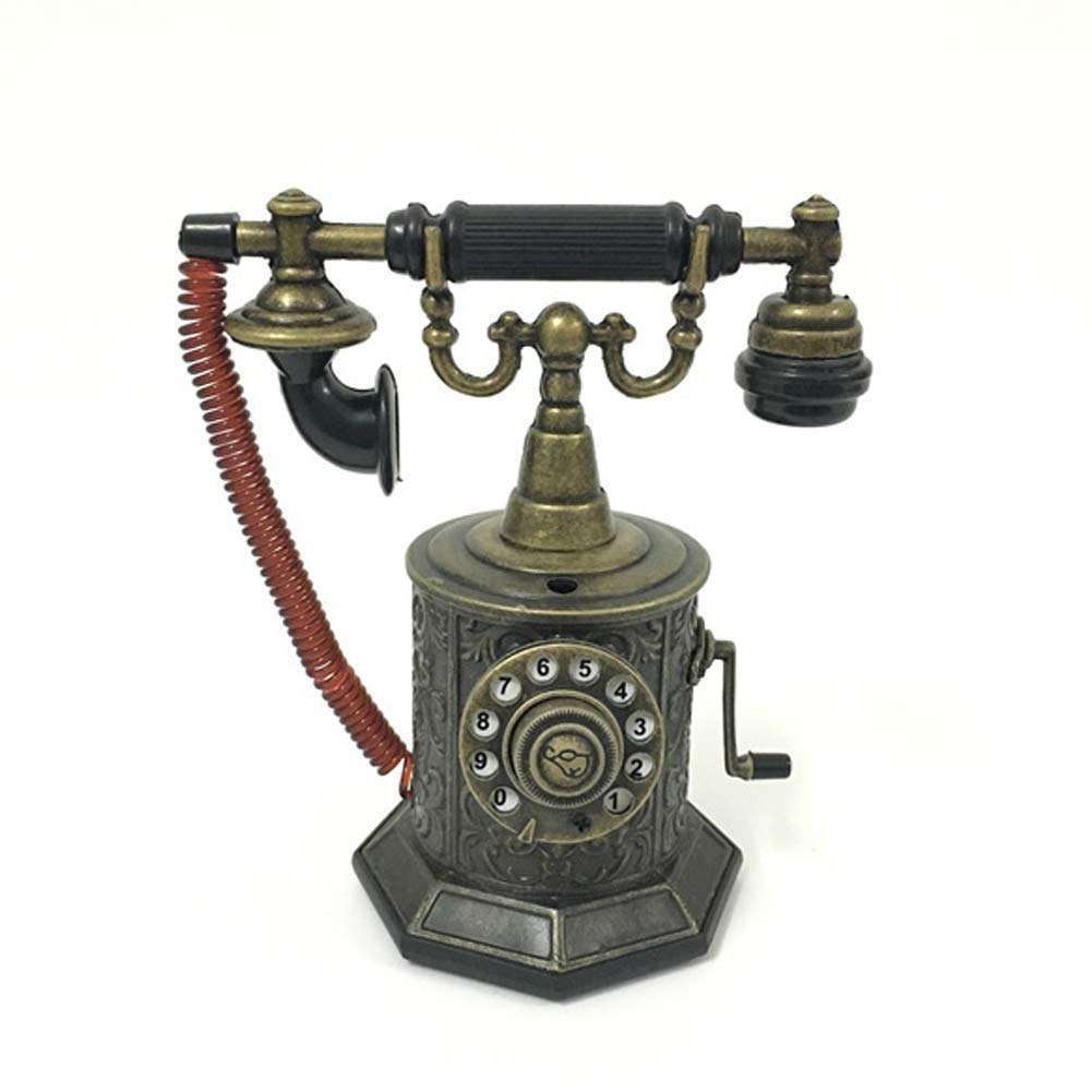 ZFLIN Home Office Decoration Crafts Metal Antique Telephone Inflatable Windproof Lighter Model by ZFLIN