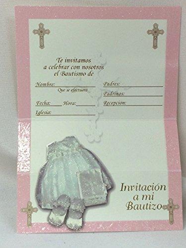 12 Baptism Invitations in Spanish with Envelopes Invitacion a Mi Bautizo New