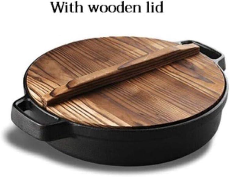 Mstr - Paellera de hierro fundido multifuncional antiadherente para barbacoa, barbacoa, panqueque, huevos, sartenes de cocina, utensilios de cocina sin revestimiento