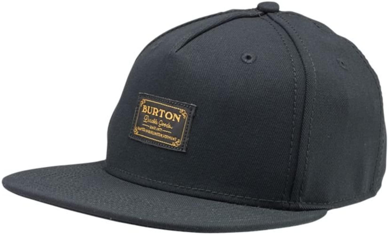 Burton Hudson Snapback Gorra, Hombre, True Black, Talla única ...