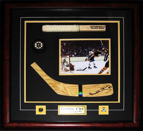 - Midway Memorabilia Bobby Orr Boston Bruins Signed Blade 8x10 Stick NHL Hockey Collector Frame