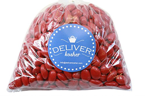 Deliver Kosher Bulk Candy - Red Jordan Almonds - 1lb Bag