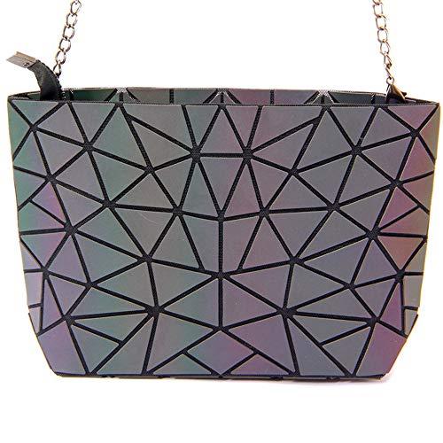 6a65caa2aafe ZY ZQ Geometric Backpack Lattice Geometric Bag PU Leather Briefcase Handbags  Luminous Women Bag Shoulder Diamond Ladies