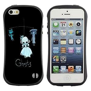 Be-Star Impreso Colorido Diseño Antichoque Caso Del Iface Primera Clase Tpu Carcasa Funda Case Cubierta Par Apple iPhone 5 / iPhone 5S ( ghosts funny kids black cat toy )