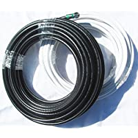 B&L Cables Hand Crafted Custom Copper Clad RG-6Coaxial Cables white 60 ft.