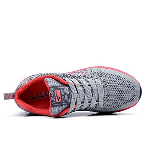 da Corsa Donna e Sneaker Unisex Basse Uomo Sportive Leggero Ginnastica Scarpe Fitness Basket Running all'Aperto LILY999 Traspirante Grigio w1IpgqYx