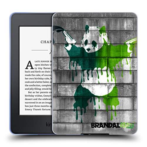 Official Brandalised Panda Guns Banksy Art Coloured Drips Soft Gel Case Compatible for Kindle Paperwhite 1/2 / 3 (Banksy Kindle Case)