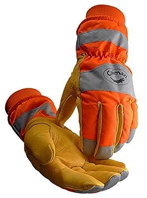 Caiman 1356 Pigskin, Heatrac, Hi-Vis, Waterproof, Boarhide Work Gloves (1 Pair) M-XL