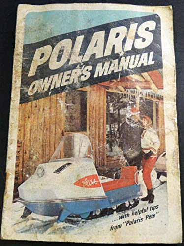 VINTAGE 1968 POLARIS SNOWMOBILE OWNERS MANUAL WELL USED -