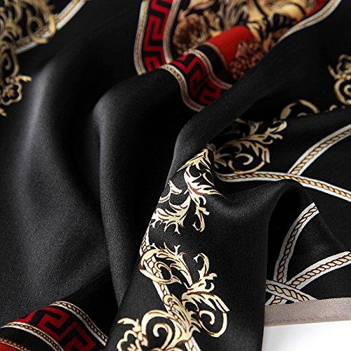 Colorata Chale Lungo Nero Uv 5 Sciarpa Donna Estate Inverno Anti Seta All Sciarpa Grande Stampa PAPqpvZ0w