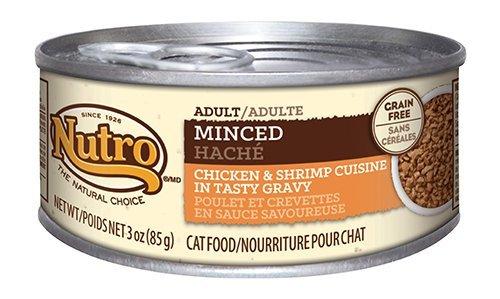 NUTRO Minced Adult Wet Cat Food, Chicken & Shrimp, 3 oz. (Pack (Chicken Shrimp)