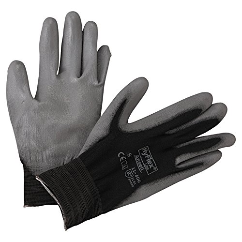 Ansell 11-600-9-BK HyFlex Lite Gloves, Size 9, Black/Gray (Pack of 12)