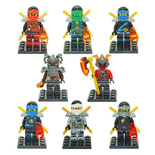 Diy Batman And Catwoman Costumes (8PC Minifigures Ninjago NINJA Cole Lloyd Nya Jay Kai Zane Building Toy 931)