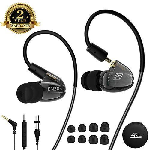 Wired Earbuds in Ear Heaphones with Microphone, Earhook Remo
