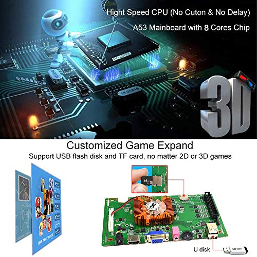 XFUNY Home Arcade Video Game Console 2350 in 1 Pandora Treasure 3D 1080P Arcade Machine with Arcade Joysticks for TV / Laptop / PC / PS4 by XFUNY (Image #2)