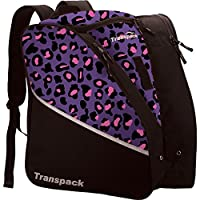 Transpack Edge Junior Ski Boot Bag - Purple/Pink Leopard