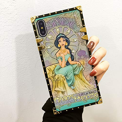 DISNEY COLLECTION Phone Case Compatible with iPhone Xs Max Jasmine Princess Fashion Luxury Unique Cool Cartoon Cute Bumper Shockproof Cover -