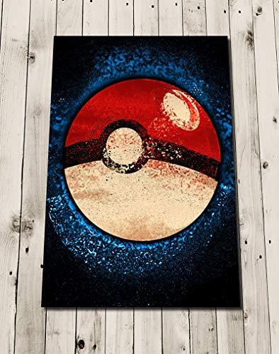 POKEBALL POKEMON Watercolour Art Print Poster Wall Decor - Gift Idea