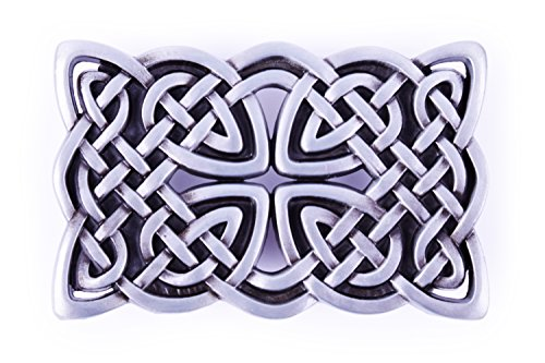 Celtic Endless Knot Braided Art Lucky Design Cowboy Belt - Belt Design Buckle