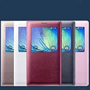 HJZ Original PU Leather Smart Auto-Sleep Full Body Case for Samsung Galaxy A7 (Assorted Colors) , Gold